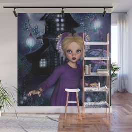 Little Daphine Fantasy Fairy World Wall Mural