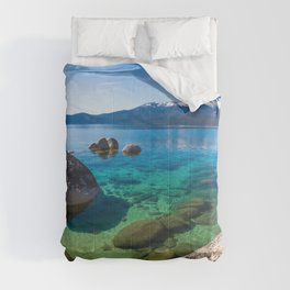 Let's Jump In At Sand Harbor, Lake Tahoe Comforters