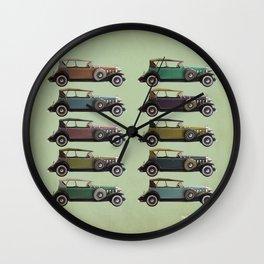 Five Cadillacs Wall Clock