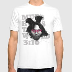 Murs Rules the World MEDIUM White Mens Fitted Tee
