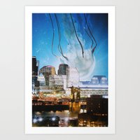 cincinnati Art Prints featuring Cincinnati by John Turck