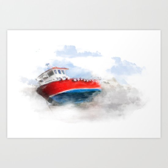 The boat Art Print