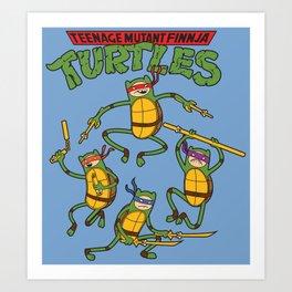 Finnja Turtles Art Print