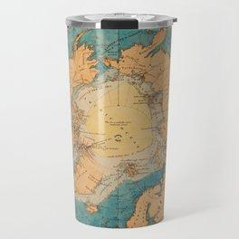Map Of The Arctic 1860 Travel Mug