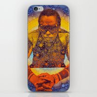 miles davis iPhone & iPod Skins featuring Miles by Kip Sikora
