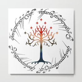 Tree The Ring Space The Lord of The Ring Metal Print