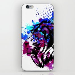 Purple Lion Spirit iPhone Skin