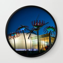 Seattle Glass Flowers Space Needle Wall Clock