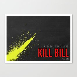 KILL BILL [MINIMAL MOVIE POSTER] Canvas Print