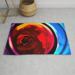 Red wine glass stylized photography Rug