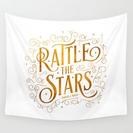 Rattle the Stars - white Wall Tapestry