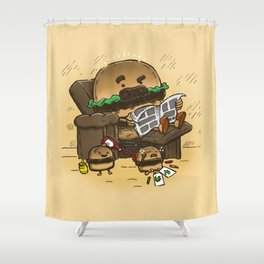 The Dad Burger Shower Curtain