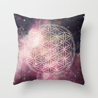 sacred geometry Throw Pillows featuring Sacred Geometry Universe 3 by Gaudy