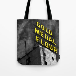 Gold Medal Sign in Minneapolis Tote Bag