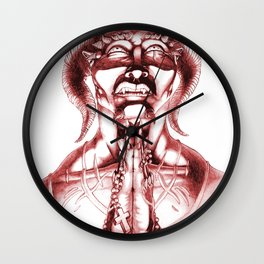 Prayer (Red) Wall Clock