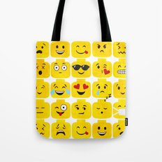 Emoji-Minifigure Tote Bag