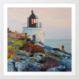 Castle Hill Lighthouse Newport Rhode Island RI Art Print
