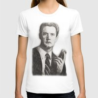 dale cooper T-shirts featuring TWIN PEAKS - AGENT COOPER by William Wong