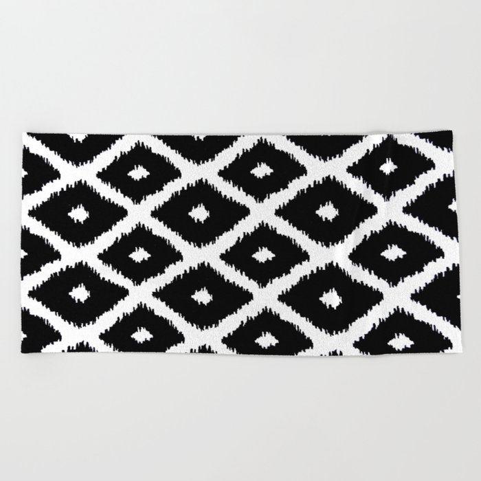 Black and White decor Beach Towel