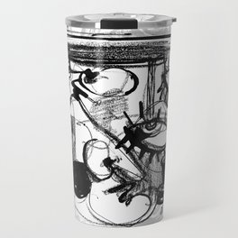 Chit-Chat - b&w Travel Mug
