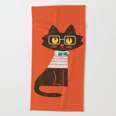 Fitz - Preppy cat Beach Towel
