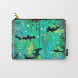 Teal hammerheads Carry-All Pouch