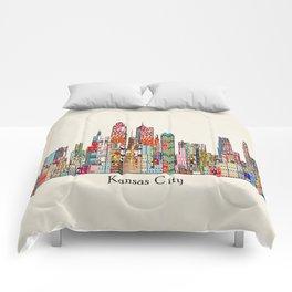 kansas city Missouri skyline Comforters