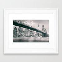 brooklyn bridge Framed Art Prints featuring Brooklyn Bridge  by Vivienne Gucwa