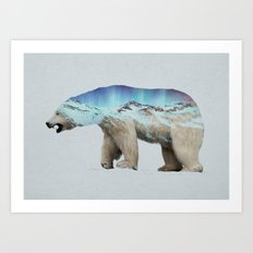 The Arctic Polar Bear Art Print