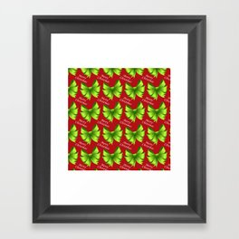 Merry Christmas Bows Framed Art Print