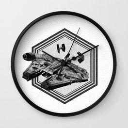Millennium Falcon Art - StarWars Dot-work Pointillism Fan Art Wall Clock