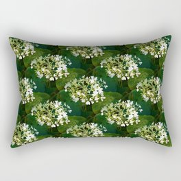 Hills-of-snow hydrangea pattern Rectangular Pillow