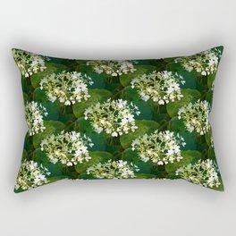 Hills-of-snow hydrangea pattern Rectangular Pillow