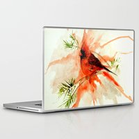 cardinal Laptop & iPad Skins featuring Cardinal by Leanne Engel