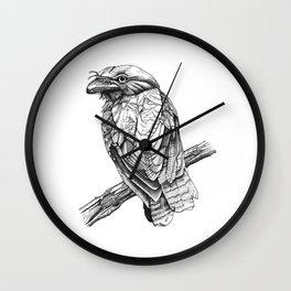 bird staring Wall Clock
