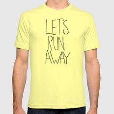 Let's Run Away VI Lemon LARGE Mens Fitted Tee