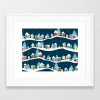 ski Framed Art Prints featuring Apres Ski by Polkip