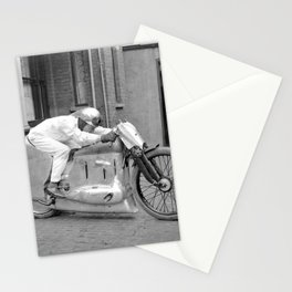 Motorcycle Racer Stationery Cards
