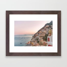 Positano at Dusk Framed Art Print