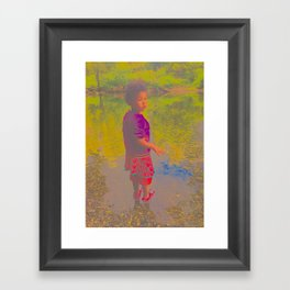 She Listens At Golden River And Feels An Overseeing Power Framed Art Print