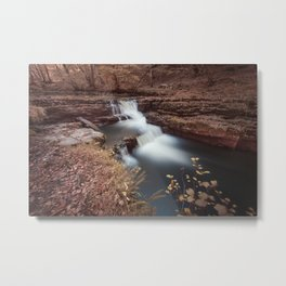 Unnamed waterfall in South Wales Metal Print