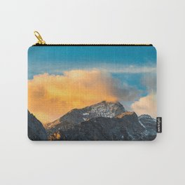 Last light on mountains before sunset Carry-All Pouch
