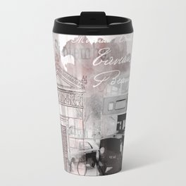 Vintage England London Britain Illustration Pastel Colors Travel Mug