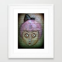 writer Framed Art Prints featuring Ghost Writer by Terrestre
