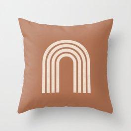 Woodblock arch terracotta Throw Pillow