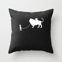 Chimera Pet Walked By Boy Throw Pillow