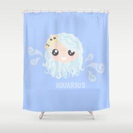 Aquarius Girl Shower Curtain