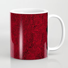 social contacts, red Coffee Mug