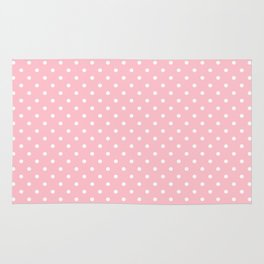 Dots (White/Pink) Rug