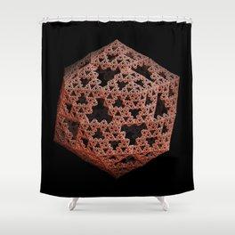 3D Fractal Icosahedron Shower Curtain